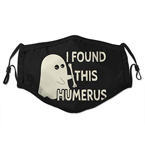 I Found This Humerus Man's Woman's Dust Masks Outdoor Adjustable Earrings Face Mask Reusable with More Filter Black