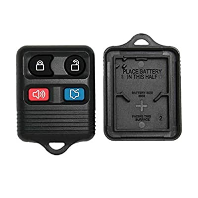 Keyless2Go New Replacement Shell Case and 4 Button Pad for Remote Key Fob with FCC CWTWB1U345 - Shell ONLY (2 Pack): Automotive