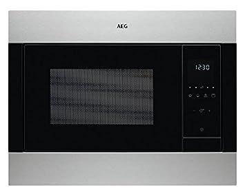 AEG MSB2548C-M Integrado - Microondas (Integrado, Microondas combinado, 23 L, 900 W, Tocar, Negro, Acero inoxidable)