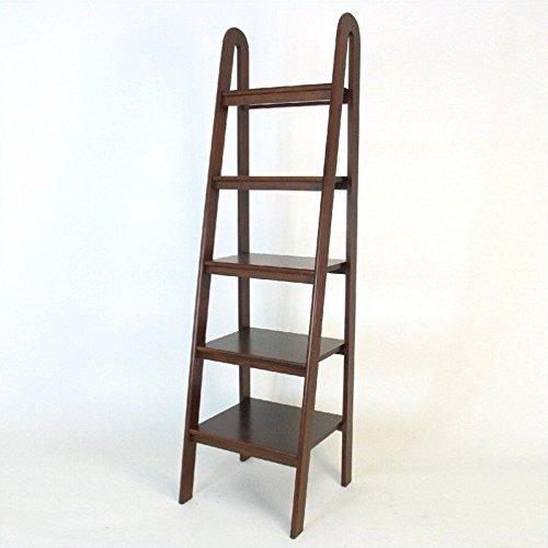 "Wayborn Home Furnishing Ladder Shelf, 5"", Medium Wood"