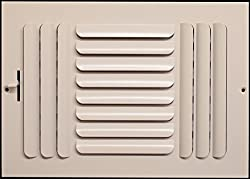 "14"" X 6"" - 3-way Curved Blade Supply Air Grille - Maximum Air Flow - Hvac Vent Cover"