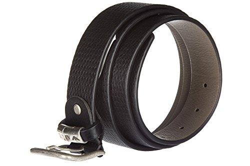 Armani Jeans ceinture homme en cuir ardiglione noir