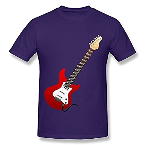 HD-Print Fashion Electric Guitar Red Tee For Woman Purple Size XS (Roku Purple)