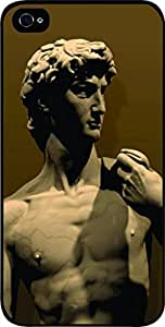 Zheng caseMichelangelo's David - Hard Black Plastic Snap - On Case with Soft Black Rubber Lining-Apple Iphone 5C ONLY- Great Quality!