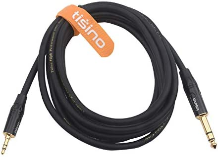 3ft Nylon Braid Heavy Duty 3.5mm Mini Jack to Jack TRS Stereo Audio Interconnect Path Cord Lead TISINO 1//8 to 1//4 Stereo Cable