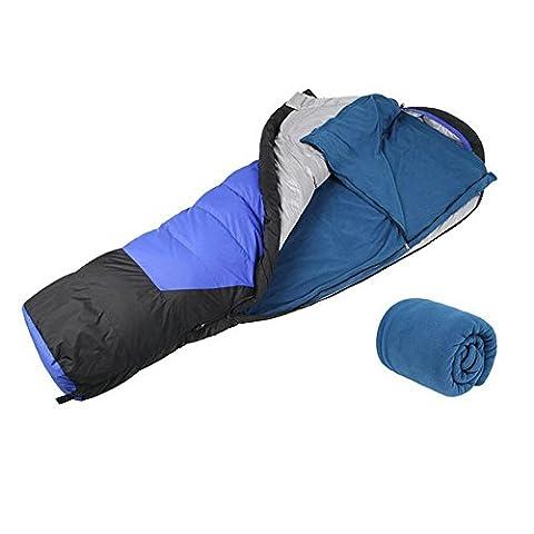 Polar Fleece Sleeping Bag Outdoor Camping Travel Hiking Multifuntion (Baby Mammoth Mummy)