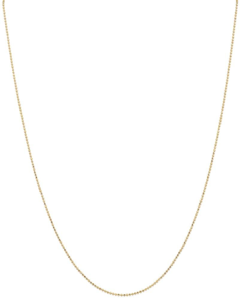 ICE CARATS 14k Yellow Gold 1.2mm Baby Ball Chain Necklace 24 Inch Beadsed Fancy Fine Jewelry Gift Set For Women Heart