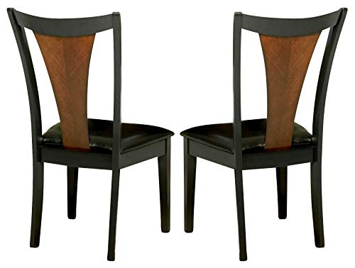 (Boyer Upholstered Seat Side Chairs Amber and Black (Set of)