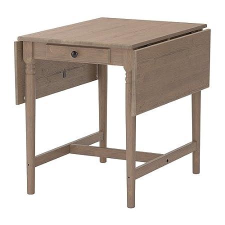 IKEA INGATORP - Drop-leaf table, grey-brown - 59/88/117x78 cm ...