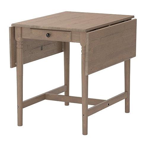 IKEA INGATORP -Klapptisch grau-braun - 59/88/117x78 cm: Amazon.de ...