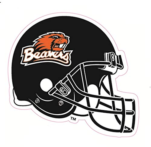 2 Inch OSU Beavers Logo Football Helmet Decal Oregon State University Beaver Removable Wall Sticker Art NCAA Home Room Decor 2 by 2 Inches - Oregon State University Helmet