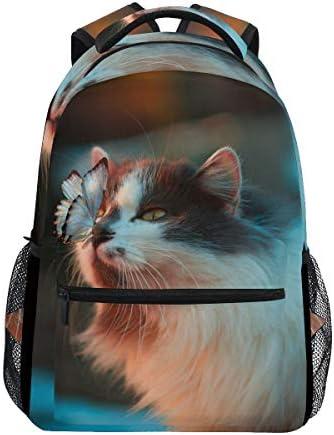 猫蝶キティカジュアルバッグ リュック リュック ショルダーバッグ 流行 おしゃれ 人気 ラップトップバッグ こども 通勤 通学