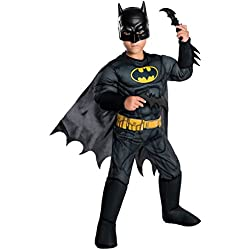 Rubie's Costume Boys DC Comics Deluxe Batman Costume, Small, Multicolor