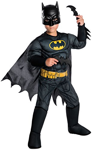 Rubie's Costume Boys DC Comics Deluxe Batman Costume, Small, Multicolor -