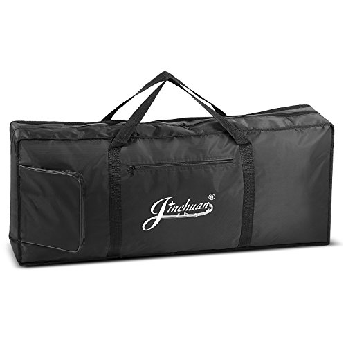 Flexzion Piano Keyboard Gig Bag (61 Key Note) Digital Electronic Keyboard Waterproof Soft Case w/Carrying Handle, Pockets, Adjustable Shoulder Strap, Music Storage Accessories for Concert Tour Travel ()