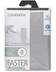 Brabantia 136702 Ironing board cover, metallized top layer without underlay, Size C - Wide, Gray