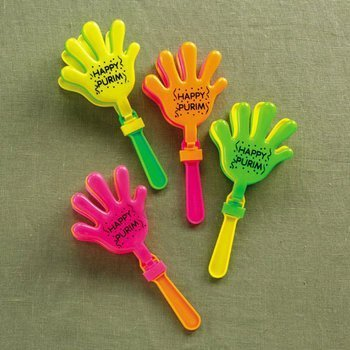 Rite Lite TYP-13178 Hand Clapping Purim Graggers - 24/Display- Pack of 24