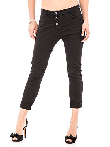 PleaseP78- Pantalones vaqueros holgados para mujer negro