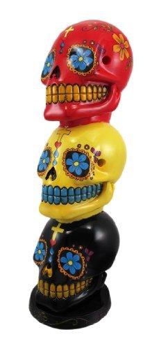 Day of the Dead Stacked Sugar Skulls Mexican Dia De Los Muertos Incense (Skull Tower)