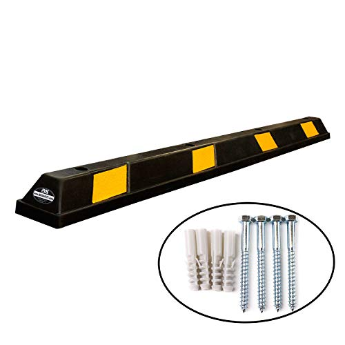 RK-BP72 Heavy Duty Rubber Parking Curb, Parking Block, 72 -inch for Car, Truck, RV and Trailer Stop Aid with 4-Piece Anchor Kit by RK (Image #8)