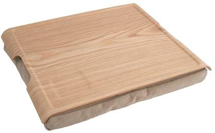 Bosign – Bandeja con grandes de madera natural con cojín Natural