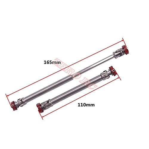 - Wincom Dishman Accessories 2Pcs Hd Stainless Steel Frank Universal Drive Shaft 110Mm- 165Mm for Rc Rock Crawler D90 Scx10 Wraith Axial Jeep Wrangler