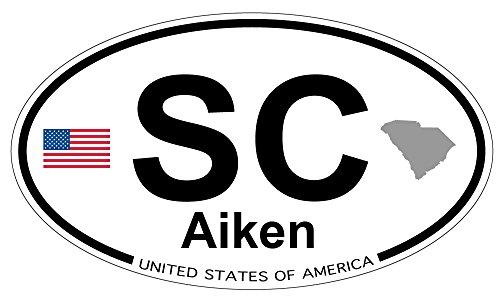 US Decal, Inc. Aiken, South Carolina Oval Sticker