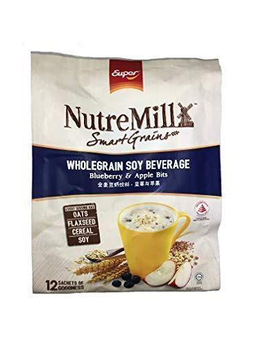 Super NutreMill Instant Wholegrain Soy Beverage Blueberry & Apple Bits (12 Sachets)