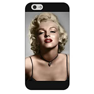 UniqueBox - Customized Black Frosted iPhone 6 4.7 Case, Marilyn Monroe iPhone 6 case, Only fit iPhone 6(4.7 Inch)