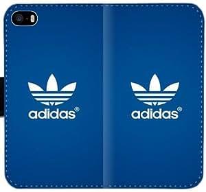 Nuevo logotipo de Adidas azul caja de cuero Ddb K3R8S Funda iPhone 5C funda 8V3KAb teléfono personalizada del tirón de la caja Funda para chicos