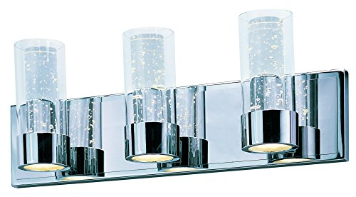 Maxim Lighting 20903CLPC Bath Sync LED 3-Light Vanity, 6 ()