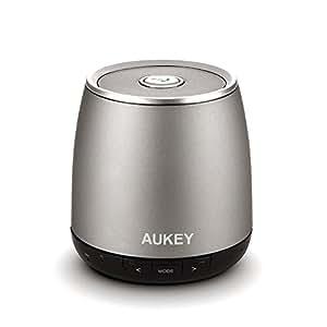 Aukey ® Altavoces, Altavoz Bluetooth portatil,Bluetooth Speaker, 3.5mm AUX, Wireless Bluetooth Speaker para teléfonos inteligentes, tabletas, ordenadores portátiles, con micrófono(DS1162 cilíndrico)
