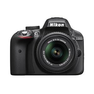 Nikon D3300 24.2 MP Digital SLR Camera kit with 18-55mm f/3.5-5.6G VR II Auto Focus-S DX NIKKOR Zoom Lens - Black (Certified Refurbished)