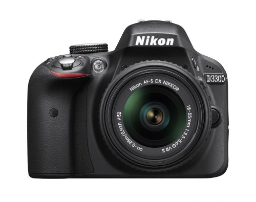 Nikon D3300 24.2 MP Digital SLR Camera kit with 18-55mm f/3.5-5.6G VR II Auto Focus-S DX NIKKOR Zoom Lens - Black (Renewed)