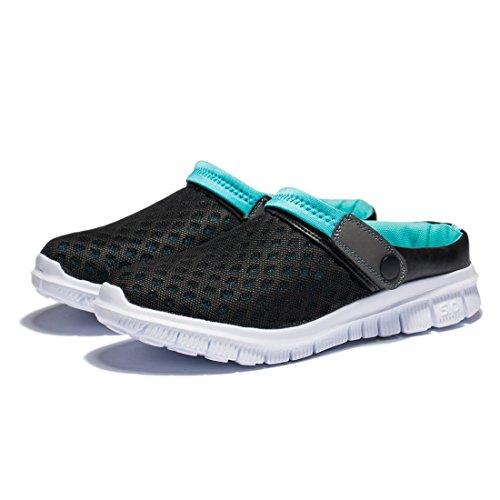 Kensbuy Unisexe Été Respirant Et Durable Mesh Chaussures, En Plein Air,  Plage Aqua, À Pied, Pantoufles Antidérapant Noirbleu beea442832ab