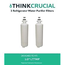 2 LG LT700P (RFC1200A) Replacement Refrigerator Water Purifier Filter Fits LG ADQ36006101; ADQ36006101-S, ADQ36006101S, ADQ36006102, ADQ36006102-S, ADQ36006102S, LT700P, 9690 & 46-9690, Kenmore 469090, Water Sentinel WSL-3