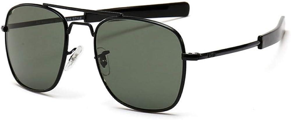 U/A 2Pcs Gafas De Sol De Aviación Ao Para Hombre, Gafas De Sol Para Hombre, Lente De Cristal Óptico Militar Del Ejército Americano