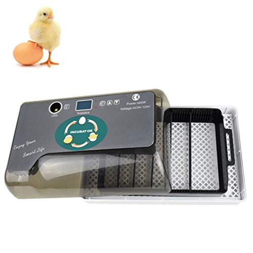 (GGYJC Digital Egg Incubator 12 Eggs Automatic Hatcher with Egg Tester Automatic Egg Turning Farm Hatchery Machine)