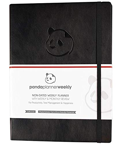 "Panda Planner Weekly - Weekly Planner for Productivity & Happiness- 1 Year Planner - 8.5 x 11"" - Softcover - Weekly Layout, Calendar, Journal, Daily Gratitude, Personal Organizer: All-In-1! Guaranteed"
