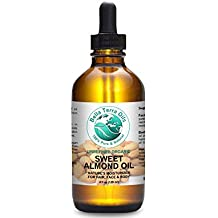 SALE! Sweet Almond Oil 4oz 100% Pure Cold-pressed Unrefined Organic Hexane-free Natural Moisturizer for Skin Hair. Anti-aging Anti-wrinkle Hair Growth. Prevents Stretch Marks. - Bella Terra Oils