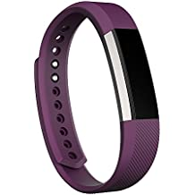 Fitbit Alta Fitness Tracker, Silver/Plum, Small (US Version)