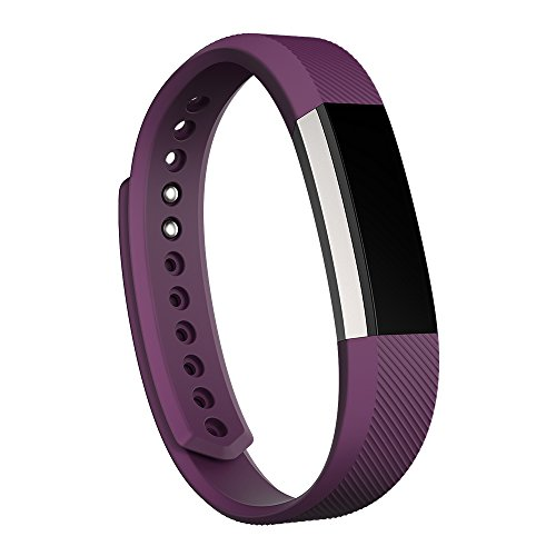 Fitbit Alta Fitness Tracker, Silver/Plum, Small (US - Shipping Tracking Us