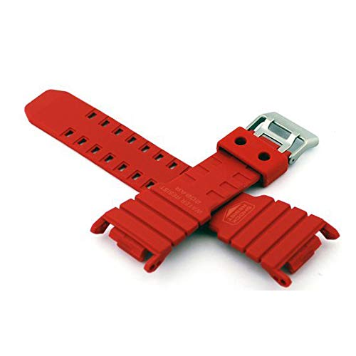Casio #10280341 Genuine Factory Replacement Band for Red G Shock Model G5500C-4
