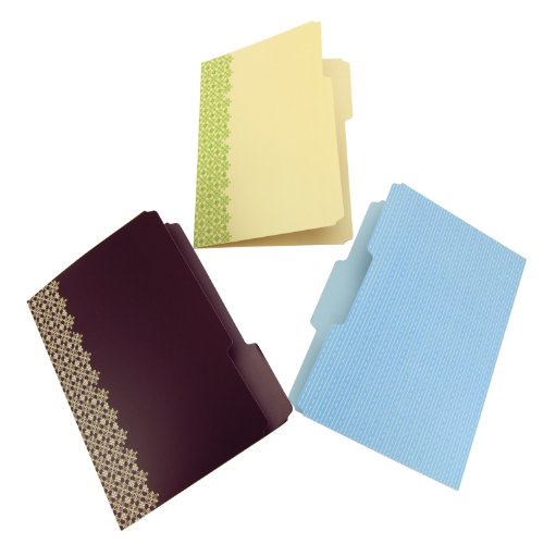 Wilson Jones WorkStyle File Folders, 3 Tab Positions, Cut and Sewn, Multi-Color, 6 Folders per Pack (W31810)