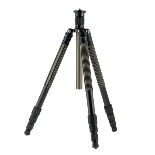 Photo Clam PTA214 PTA-214s 4 Section Aluminum Twist Lock Tripod with Center Column (Black) by Photo Clam