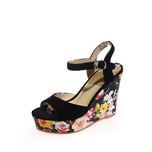 Sandals Sandals Nubuck Womens Black MJS03218 Marking Non 1TO9 Urethane xTqYpwUWC