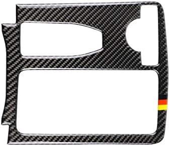 Zerama Panel de Fibra de Carbono Holder Copa Cubre el reemplazo para Mercedes W204 W212 2007-2013 2010-2012 C Clase E Clase