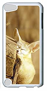 Fashion Customized Case for iPod Touch 5 Generation White Cool Plastic Case Back Cover for iPod Touch 5th with Fox