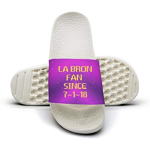 ADIDII Mens Printed Non-Slip Slide Parent flip Flop Sandals La_Bron_Yellow_Logo_Basketball Summer Stylish Parent Slide B07GX2DHM9 eea50d