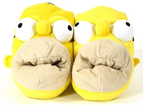 Homer Simpsons Hausschuhe Slipper Plüschschuh Pantoffel Plüschtier (41-43)